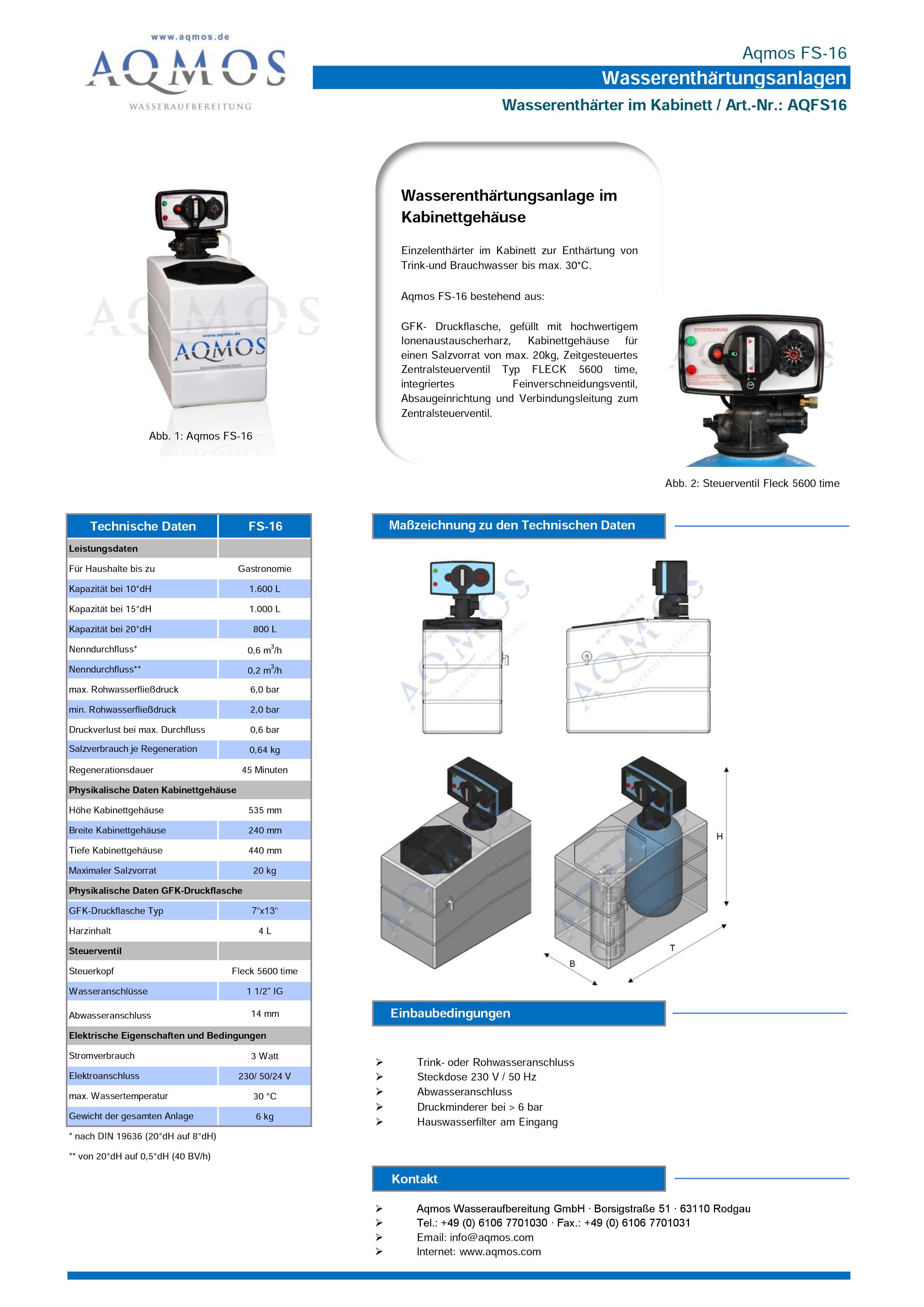 FS-16-Datenblatt