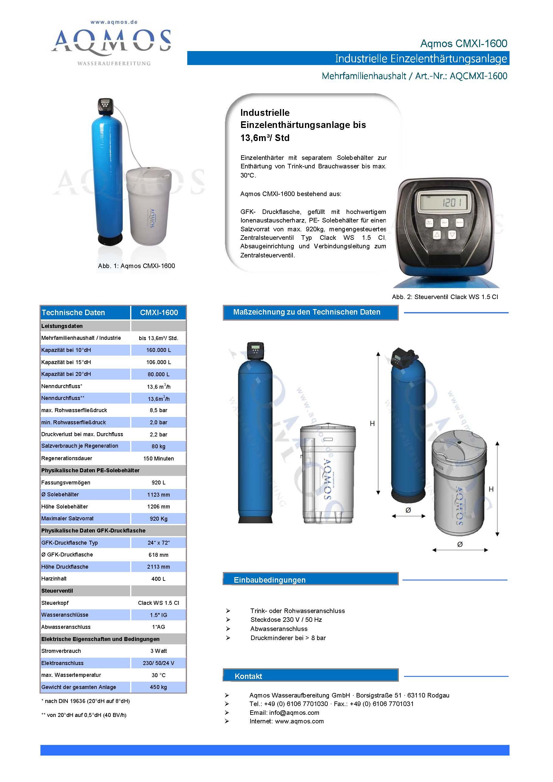 CMXI-1600-Datenblatt