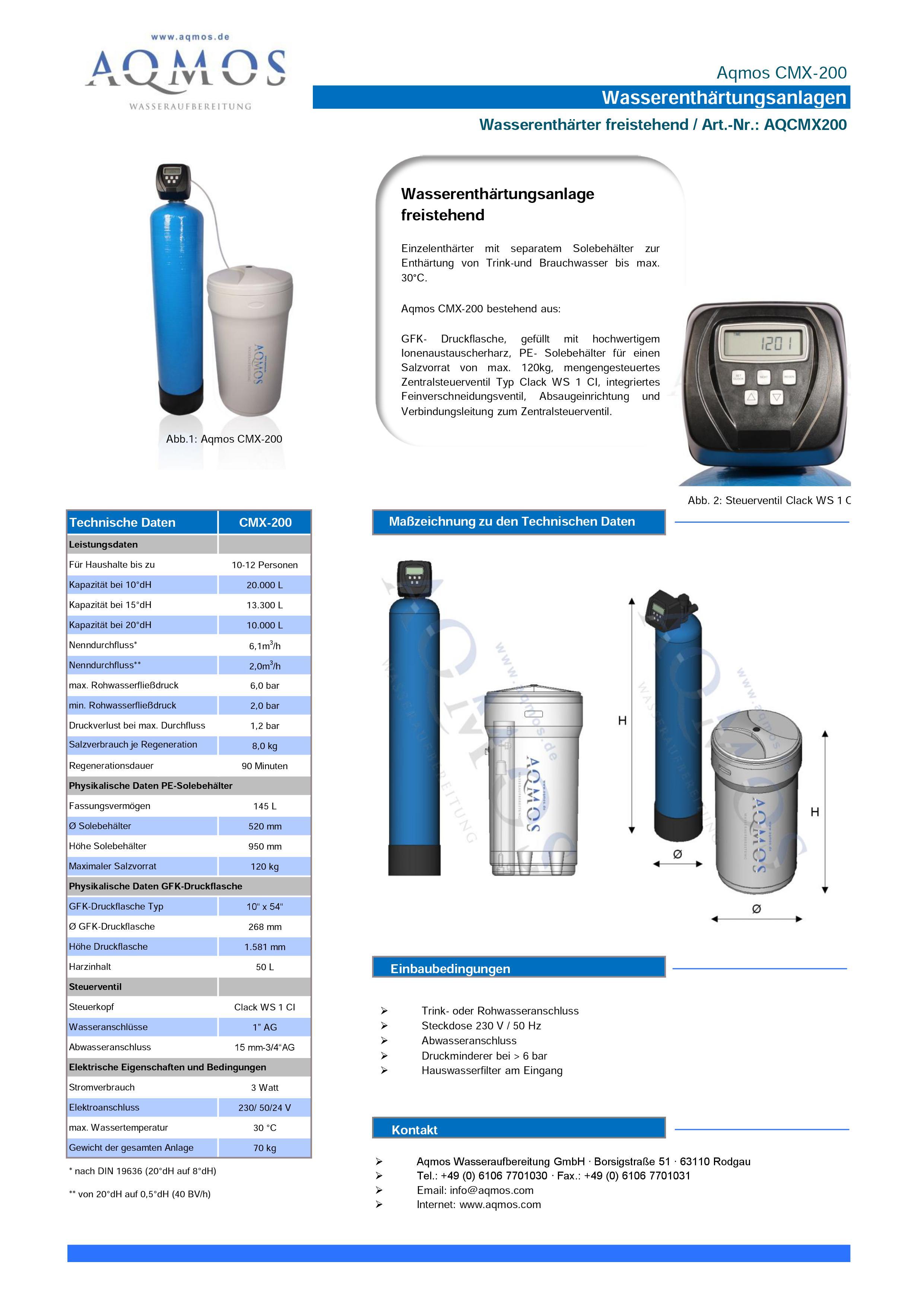 CMX-200-Datenblatt