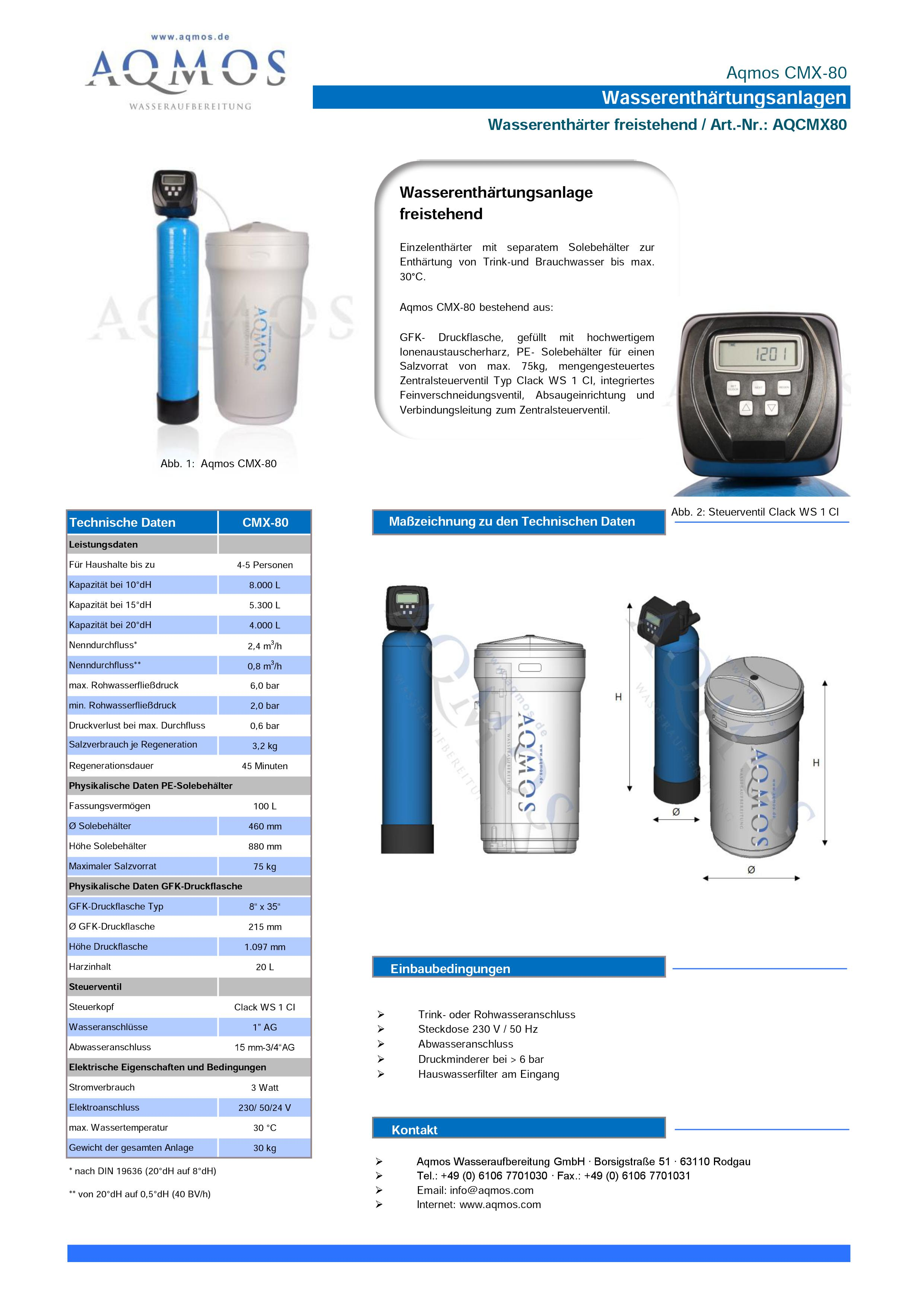 CMX-80-Datenblatt