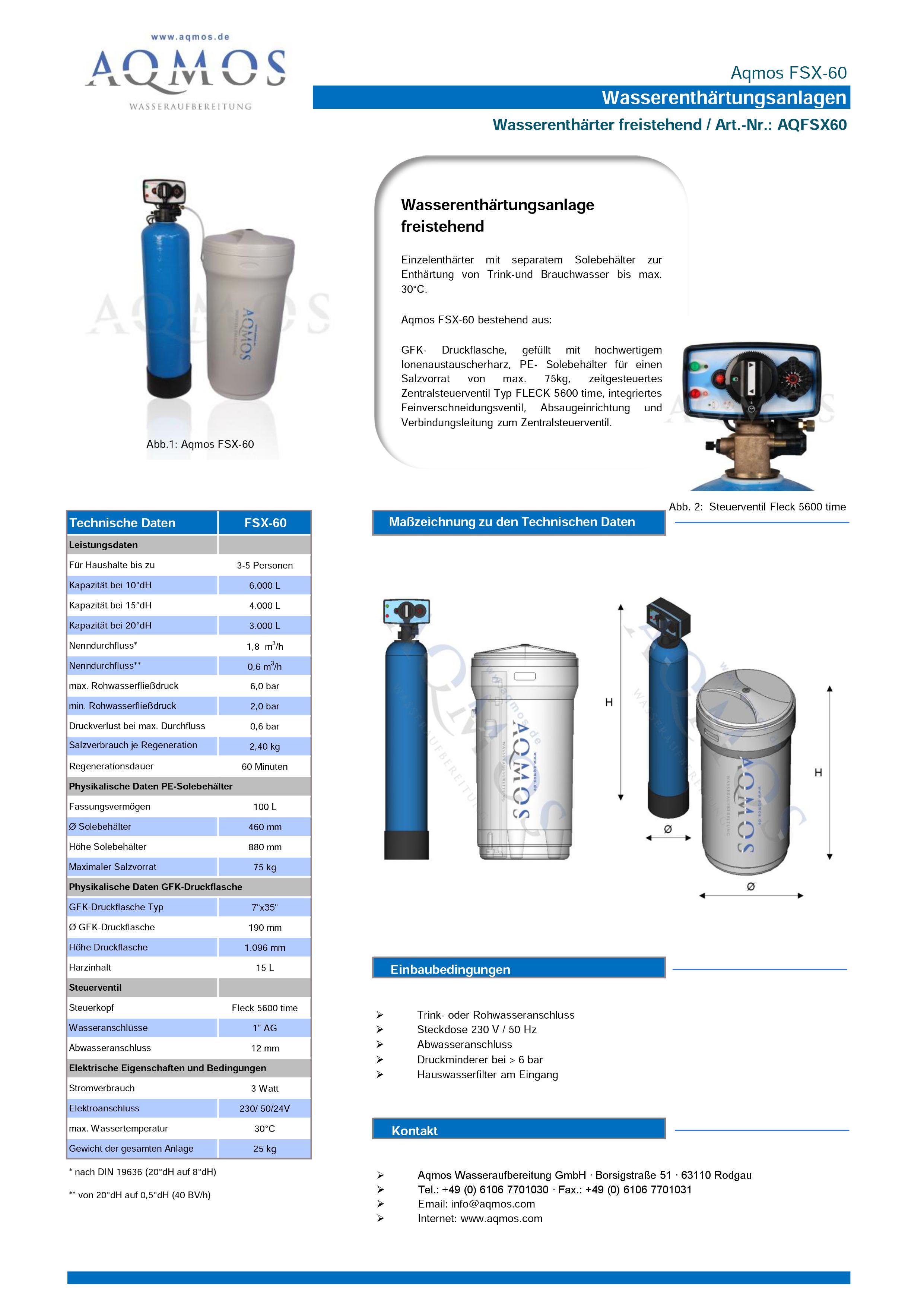 FSX-60-Datenblatt