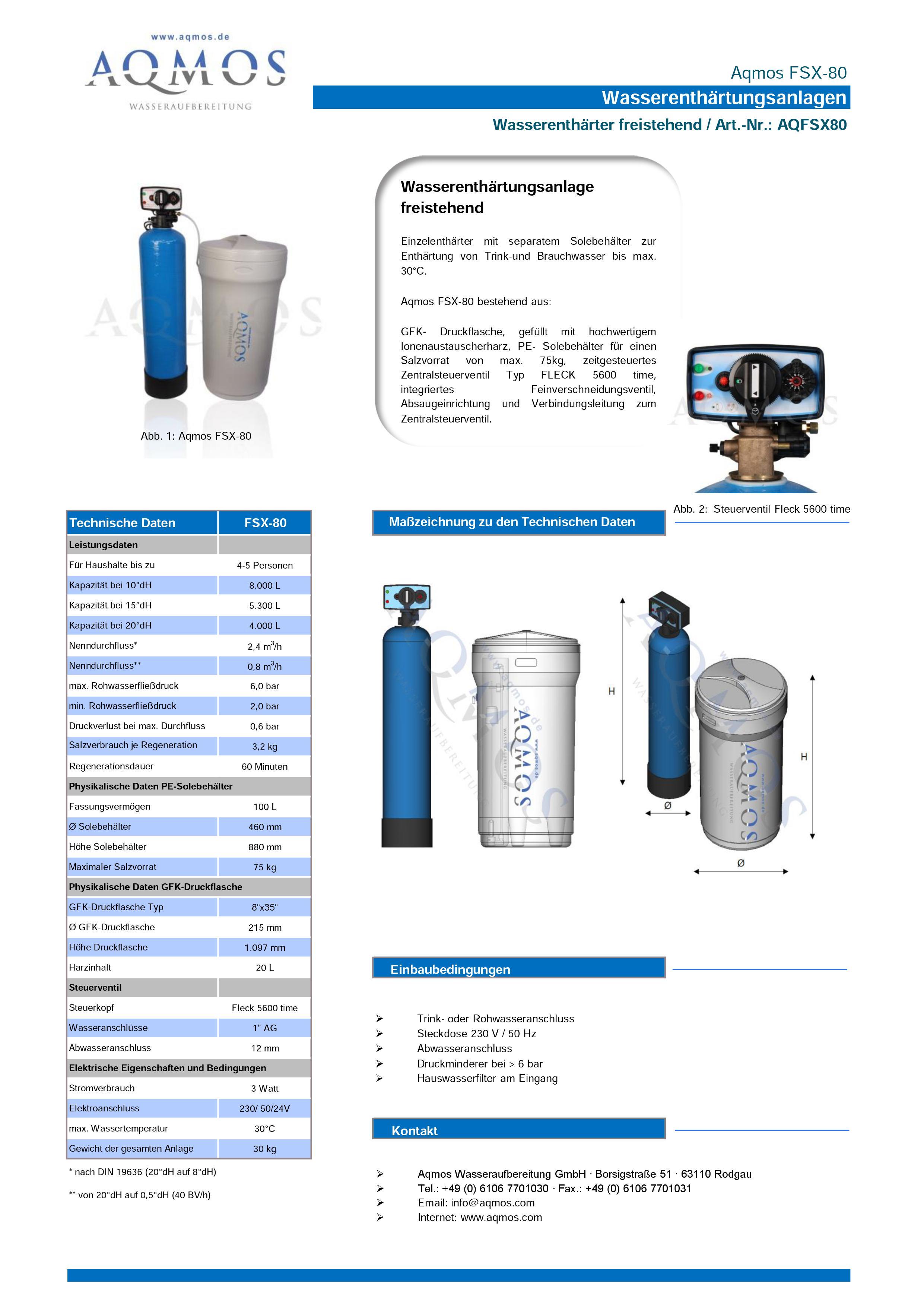 FSX-80-Datenblatt