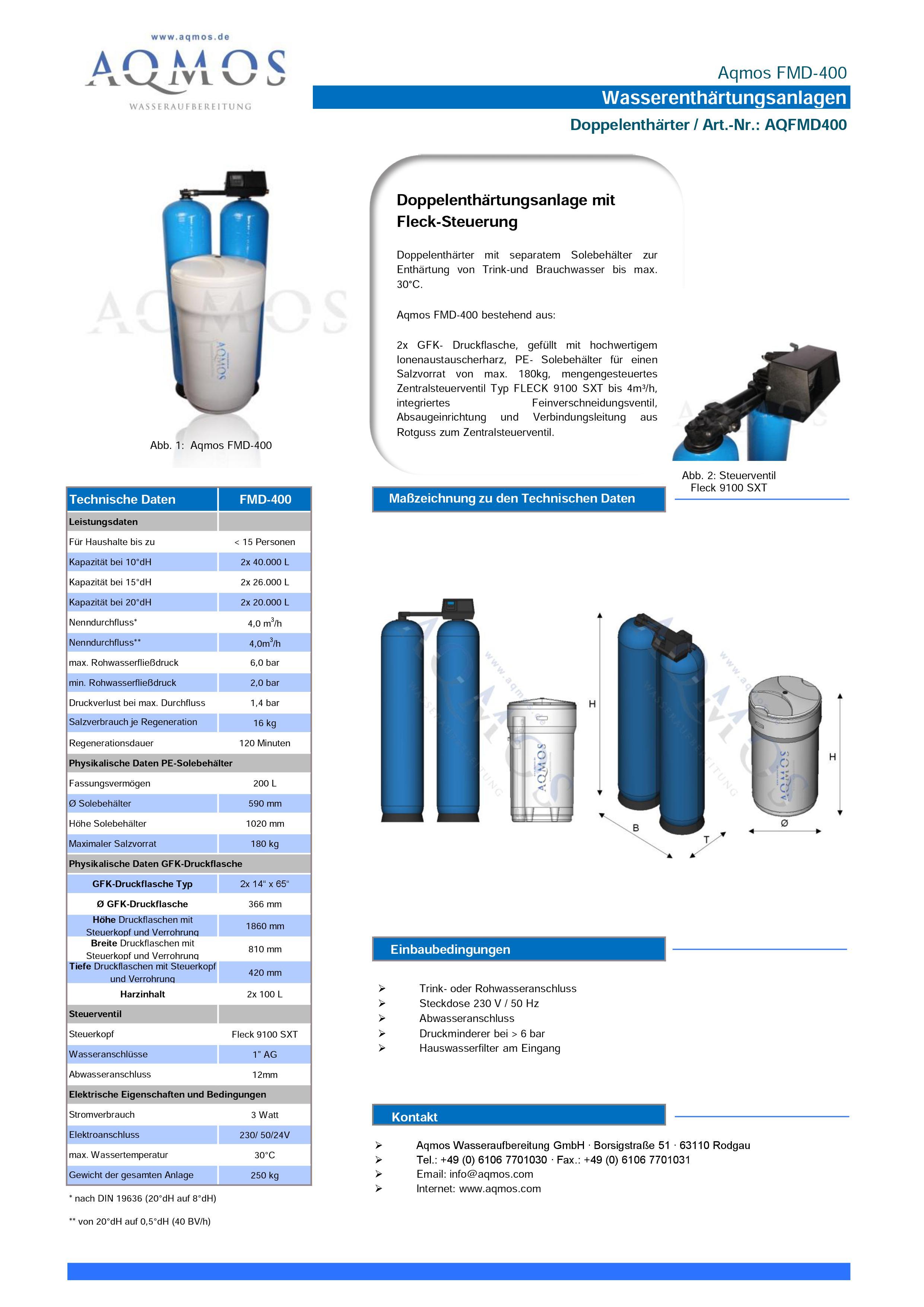 FMD-400-Datenblatt