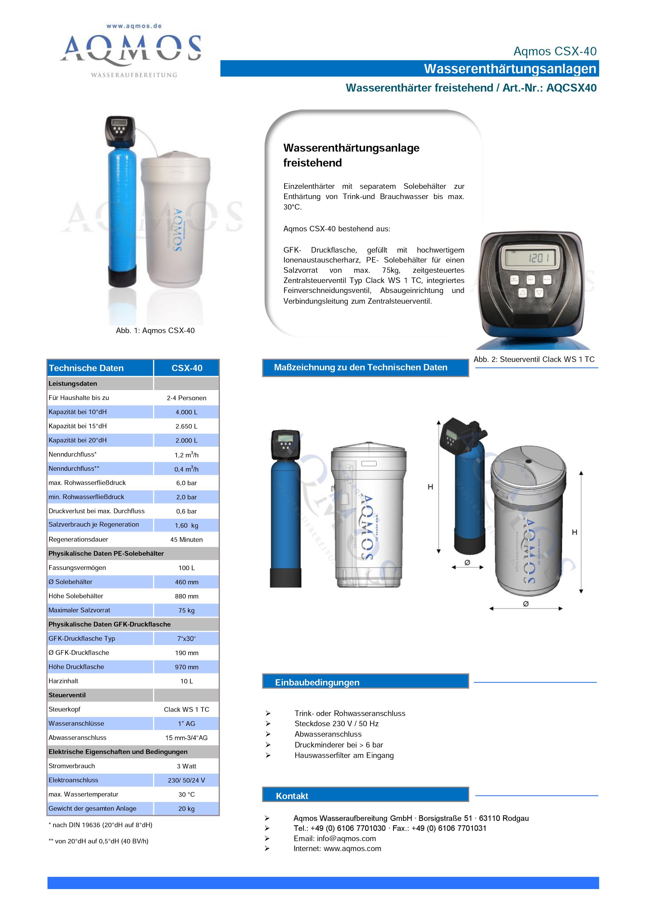 CSX-40-Datenblatt