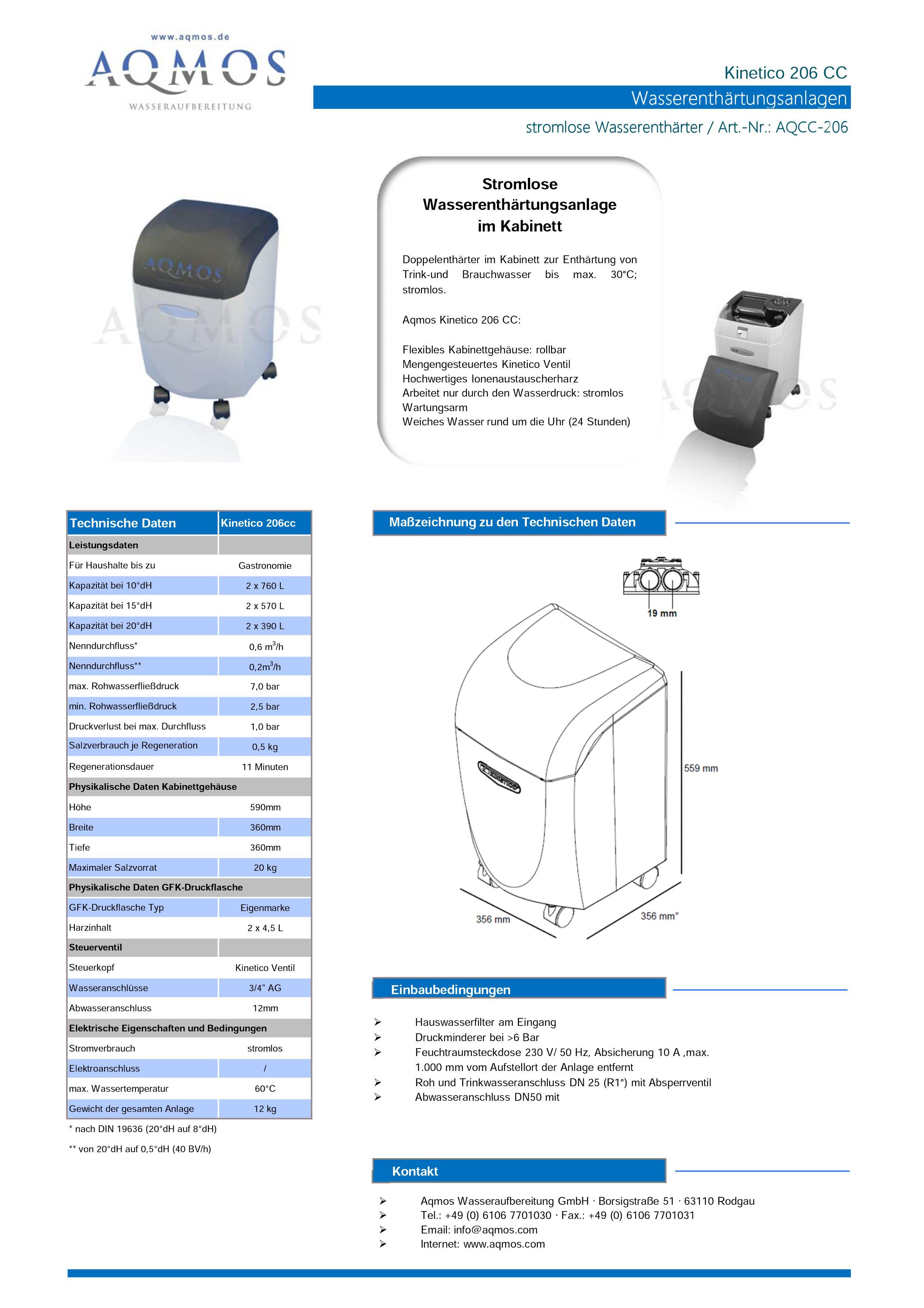 Kinetico-206-CC-Datenblatt