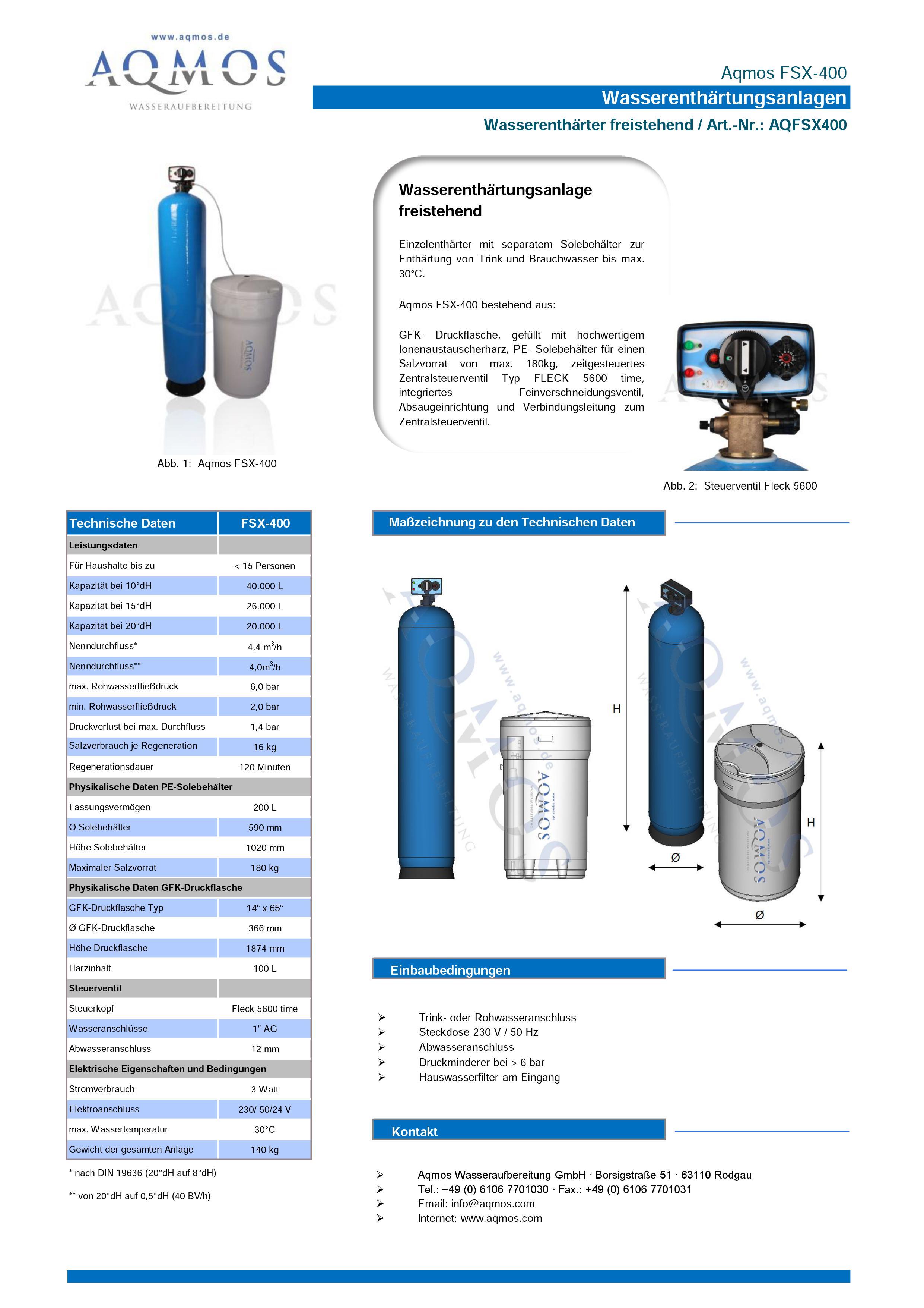 FSX-400-Datenblatt