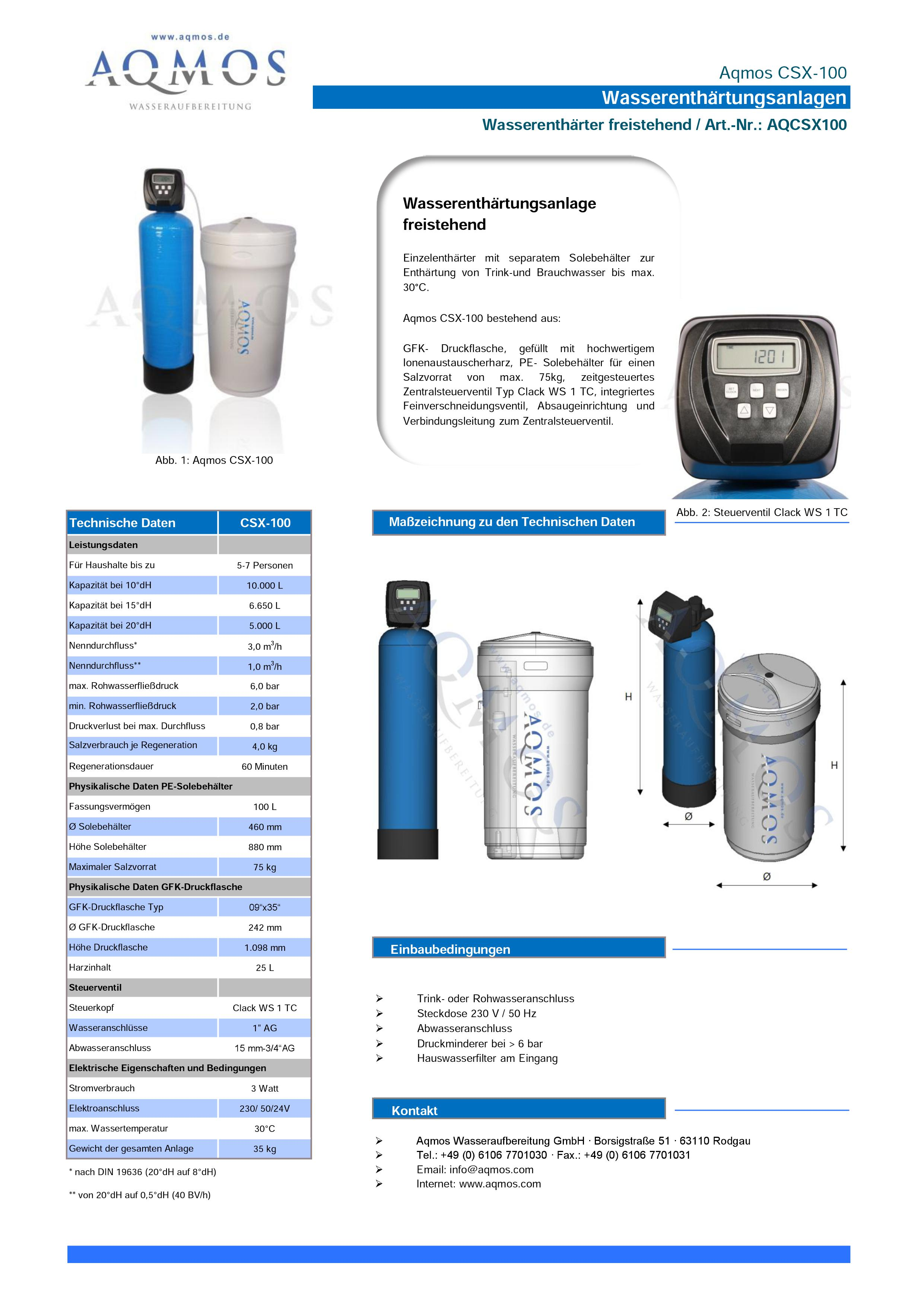 CSX-100-Datenblatt