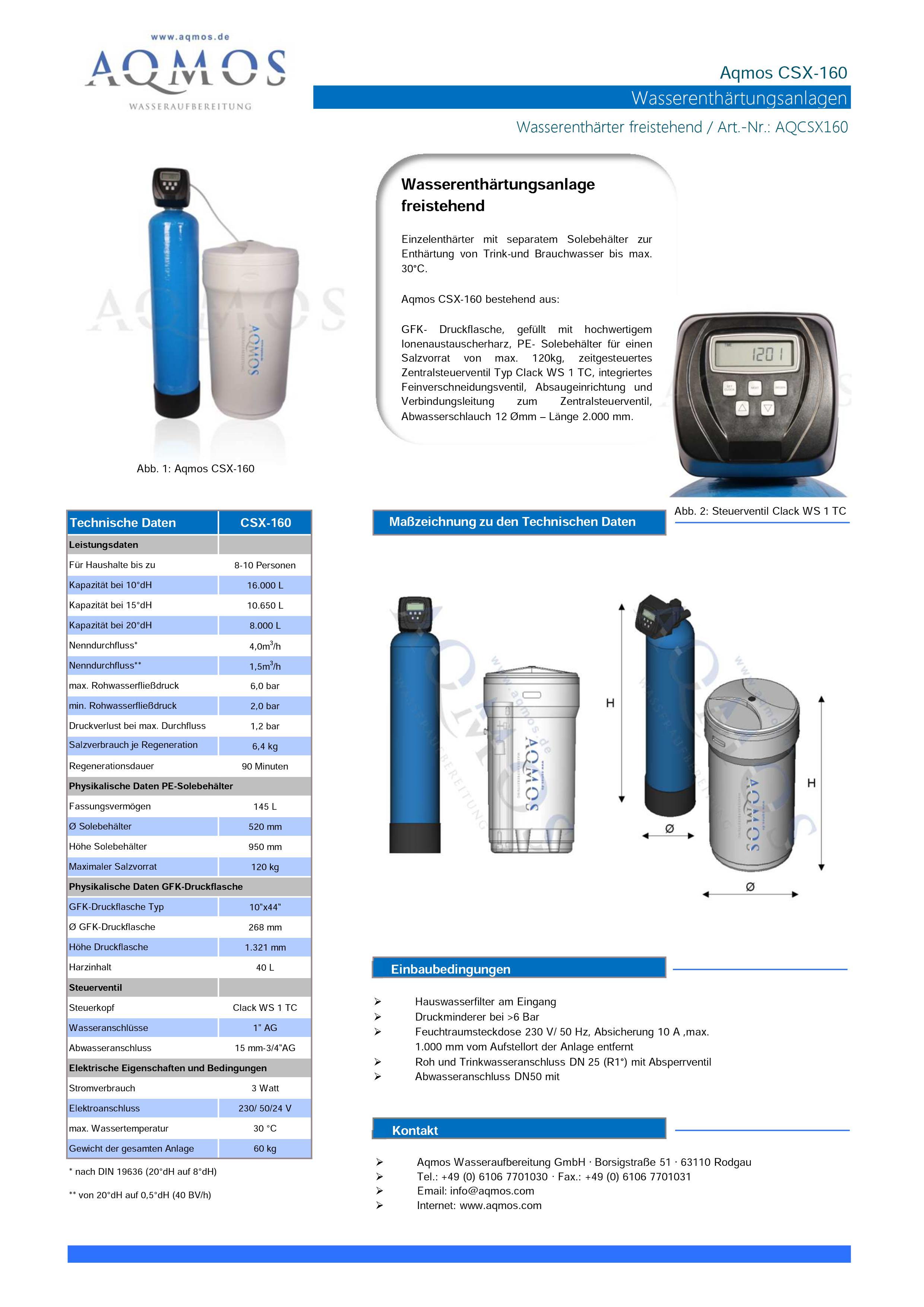 CSX-160-Datenblatt