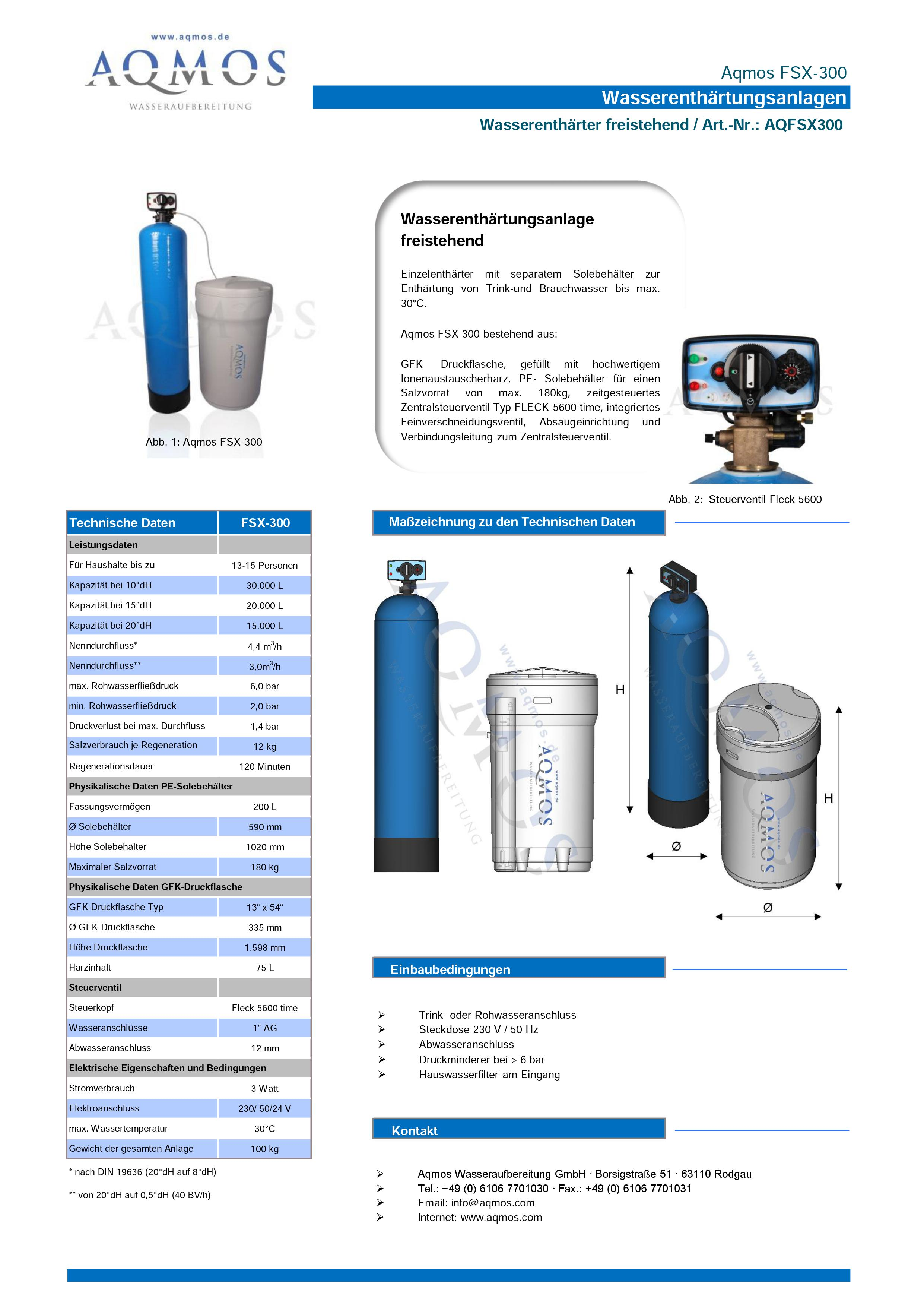 FSX-300-Datenblatt