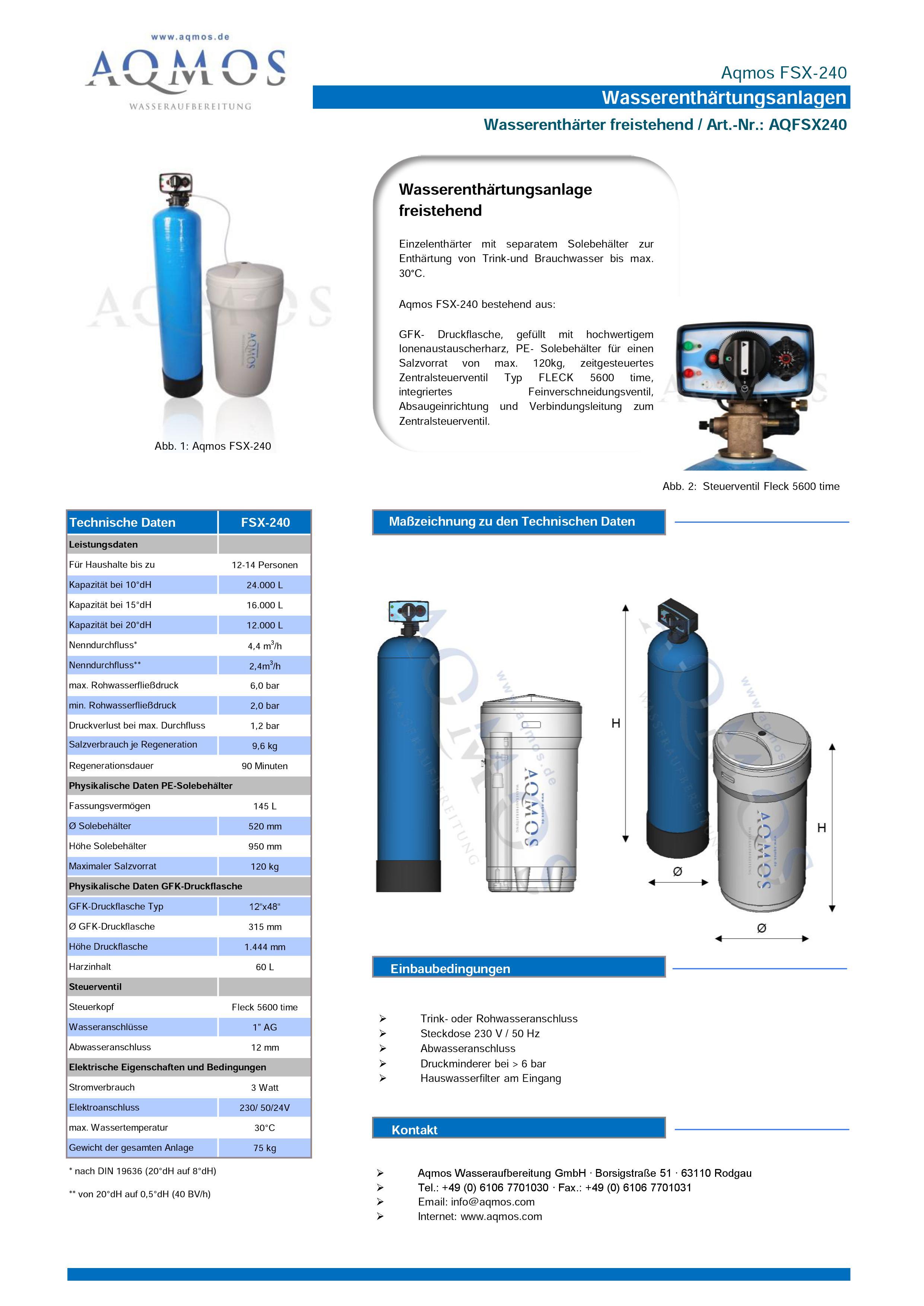 FSX-240-Datenblatt