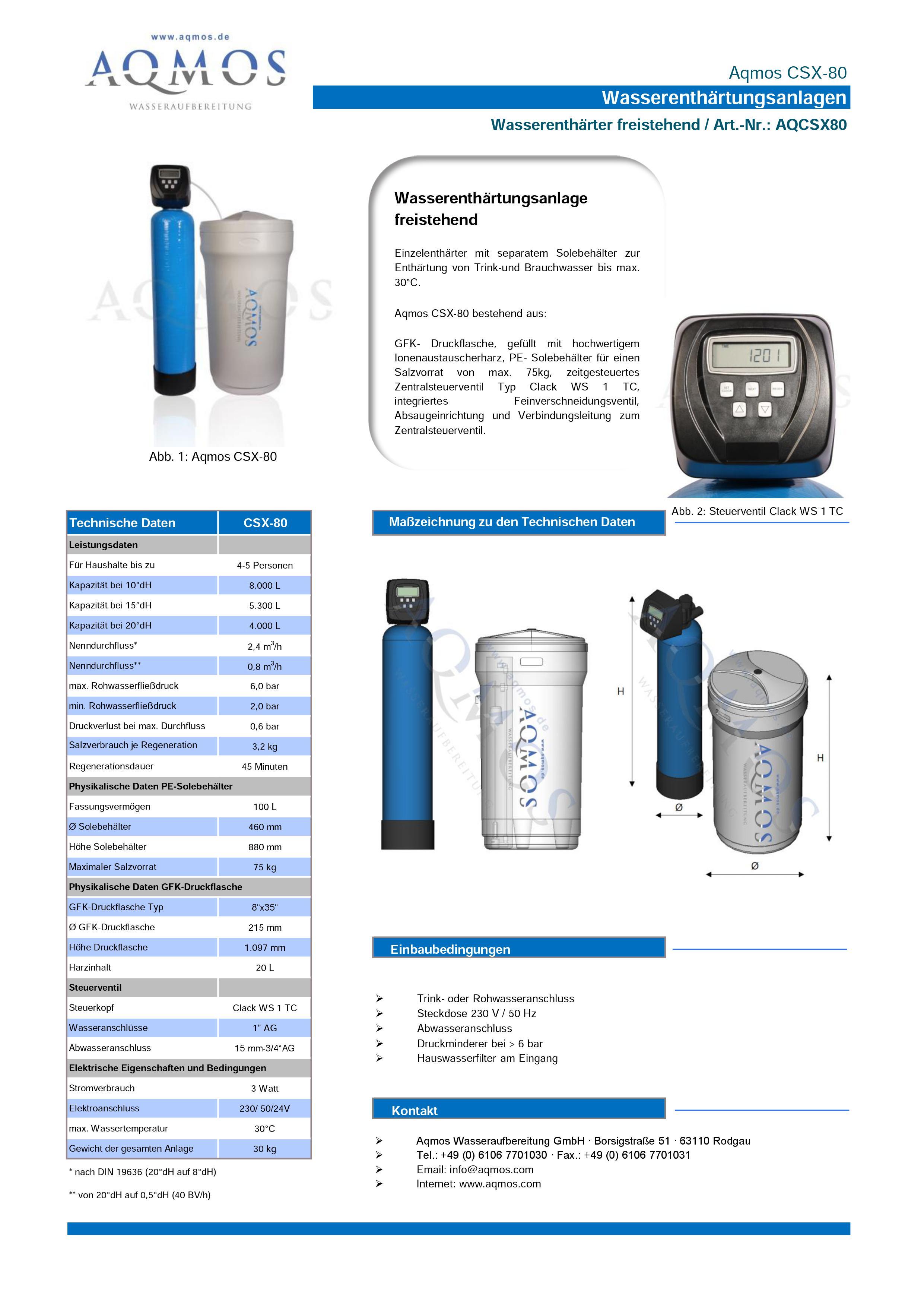 CSX-80-Datenblatt