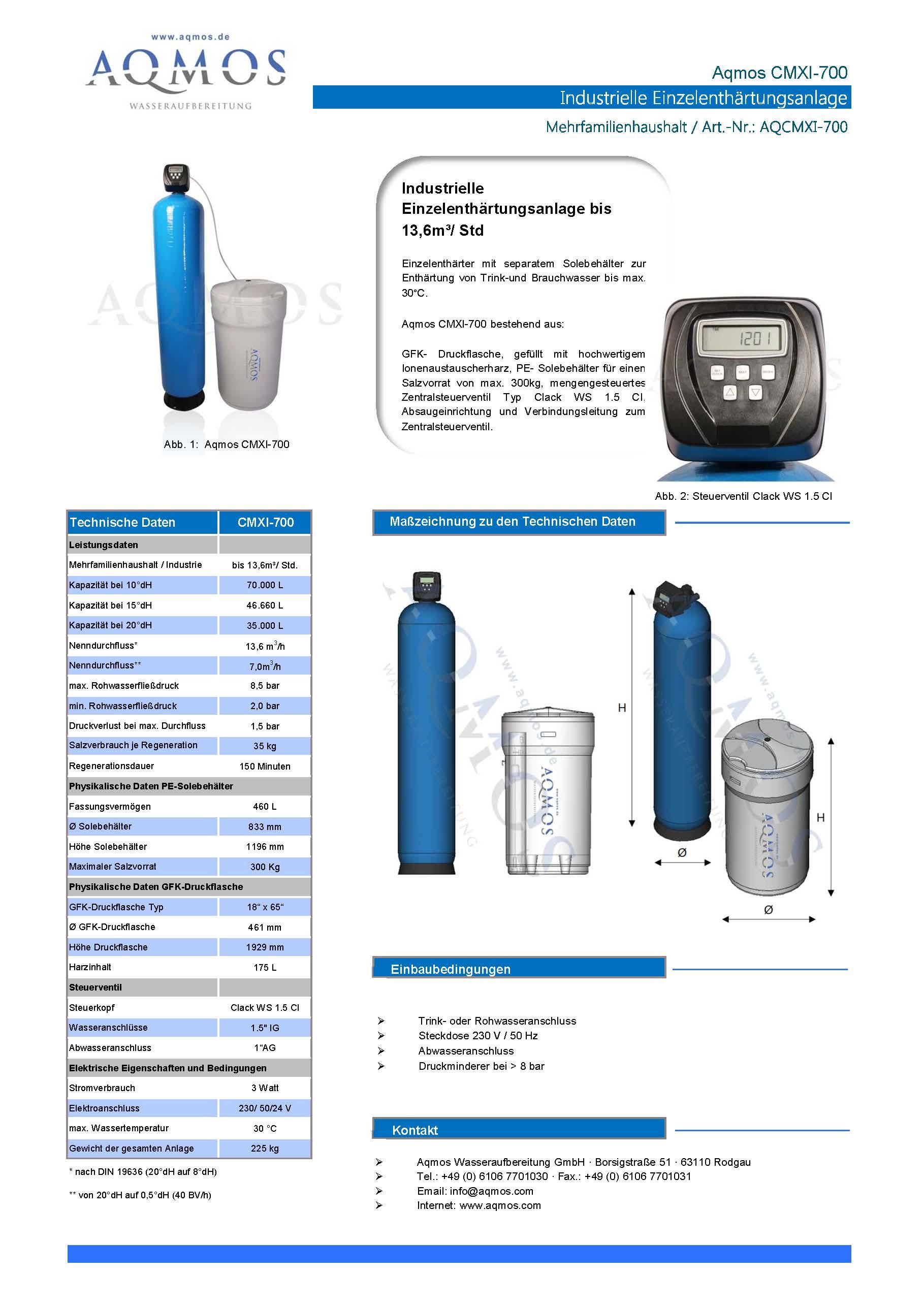 CMXI-700-Datenblatt