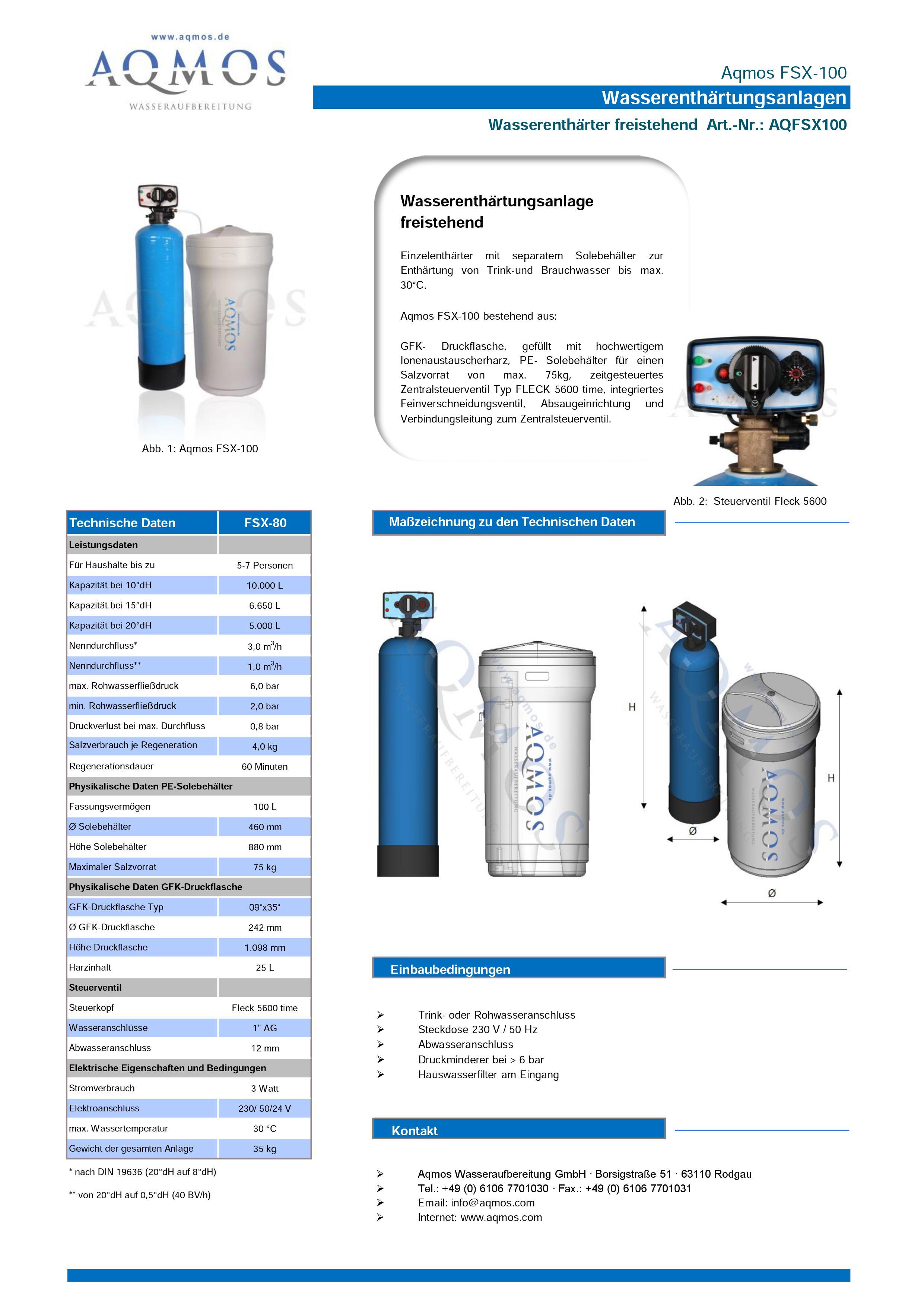 FSX-100-Datenblatt