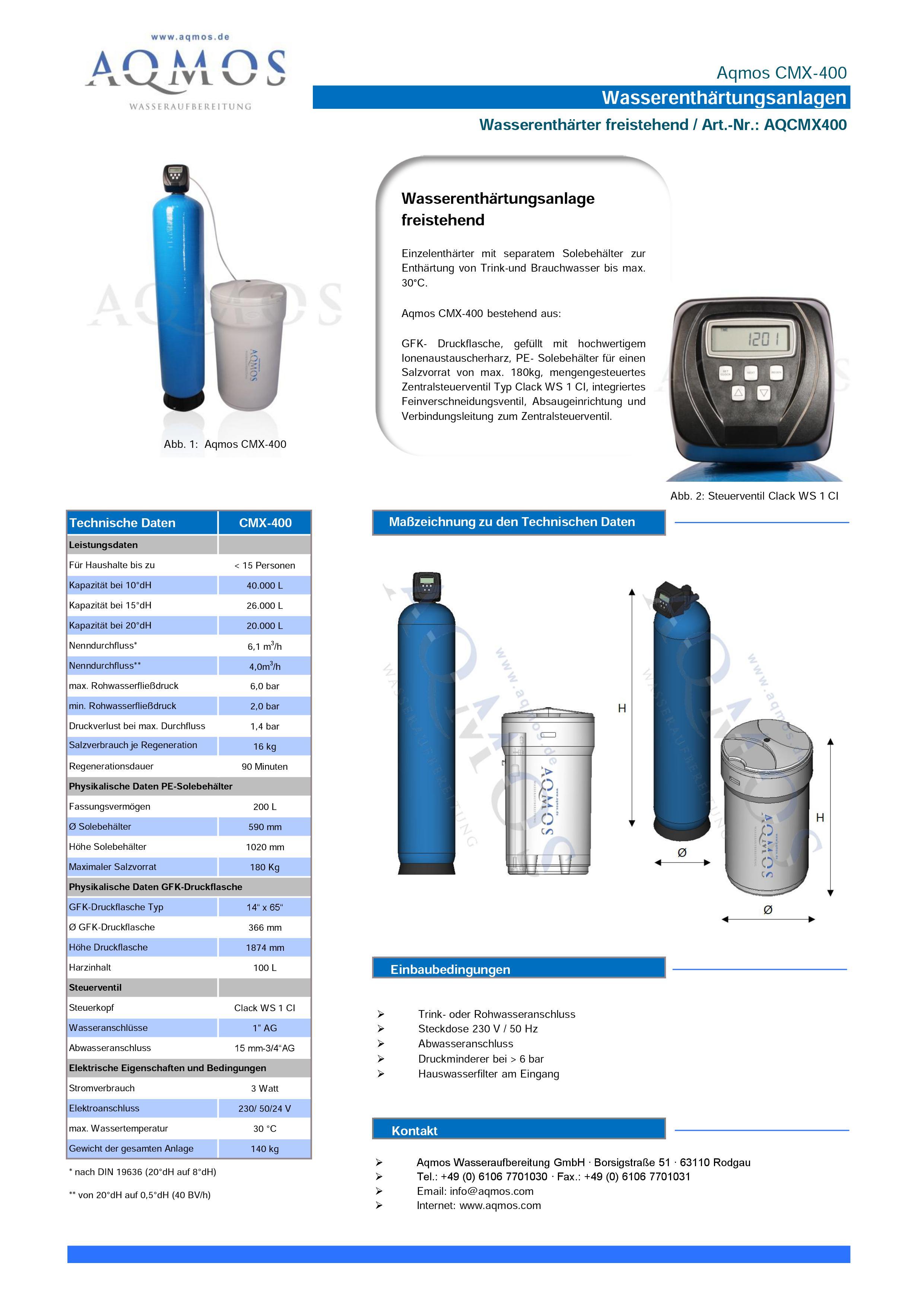 CMX-400-Datenblatt