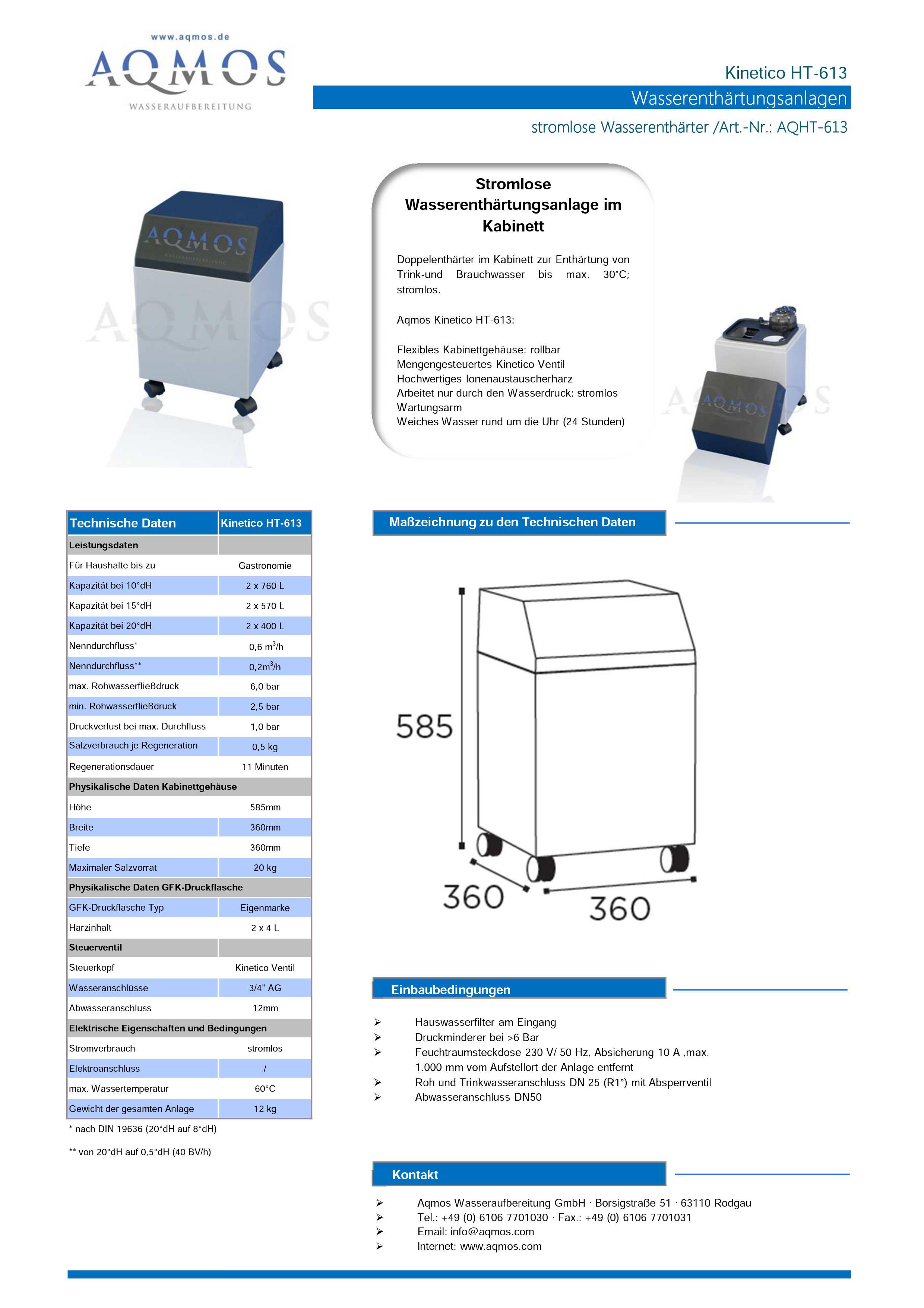 Kinetico-HT-613-Datenblatt