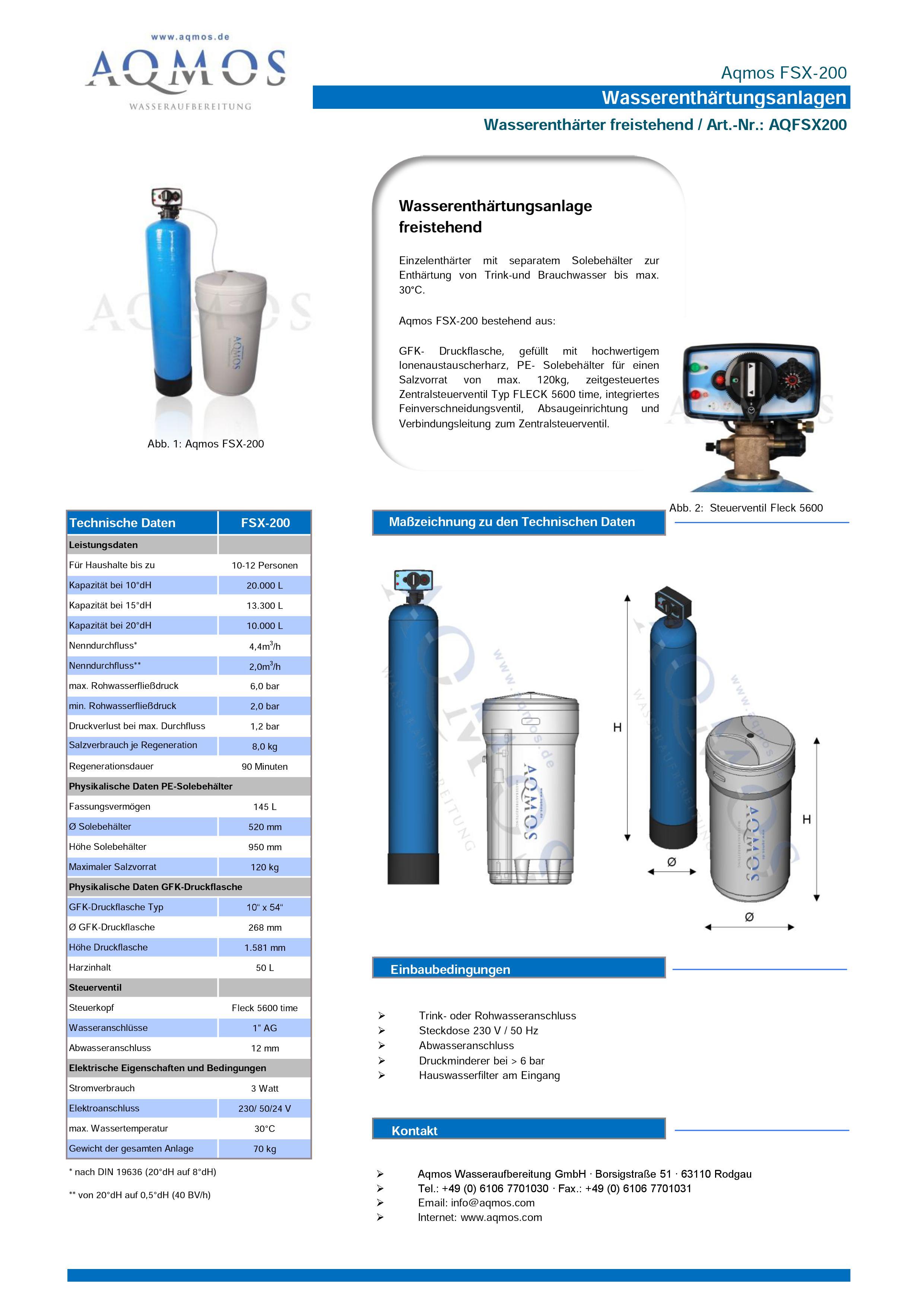 FSX-200-Datenblatt