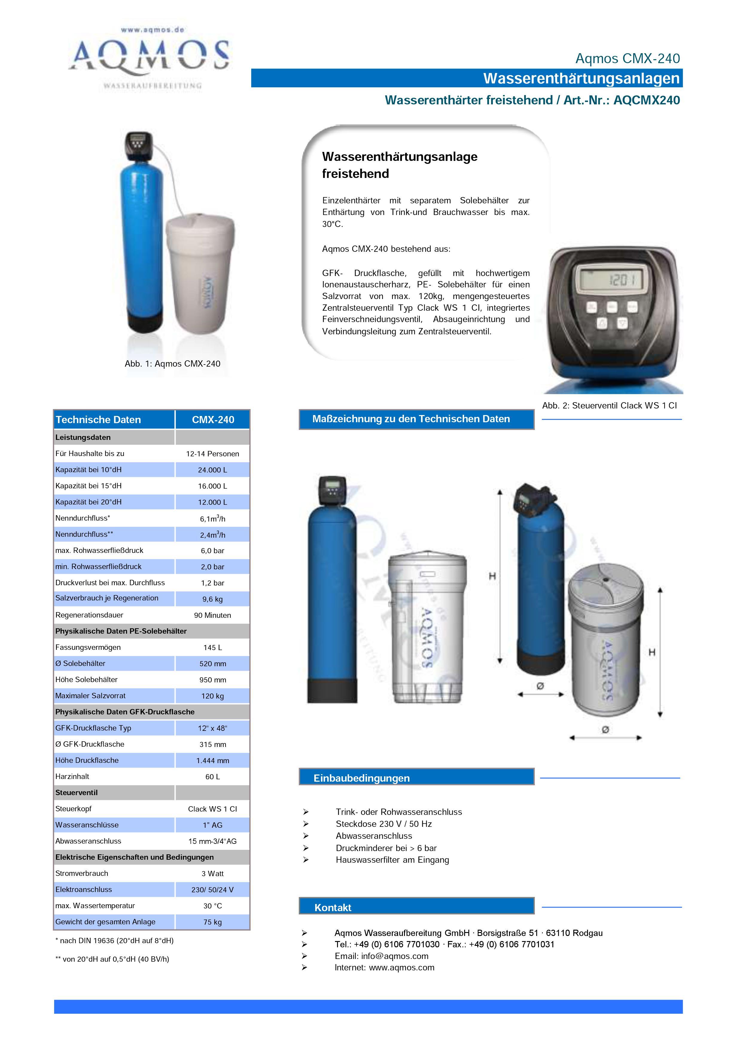 CMX-240-Datenblatt